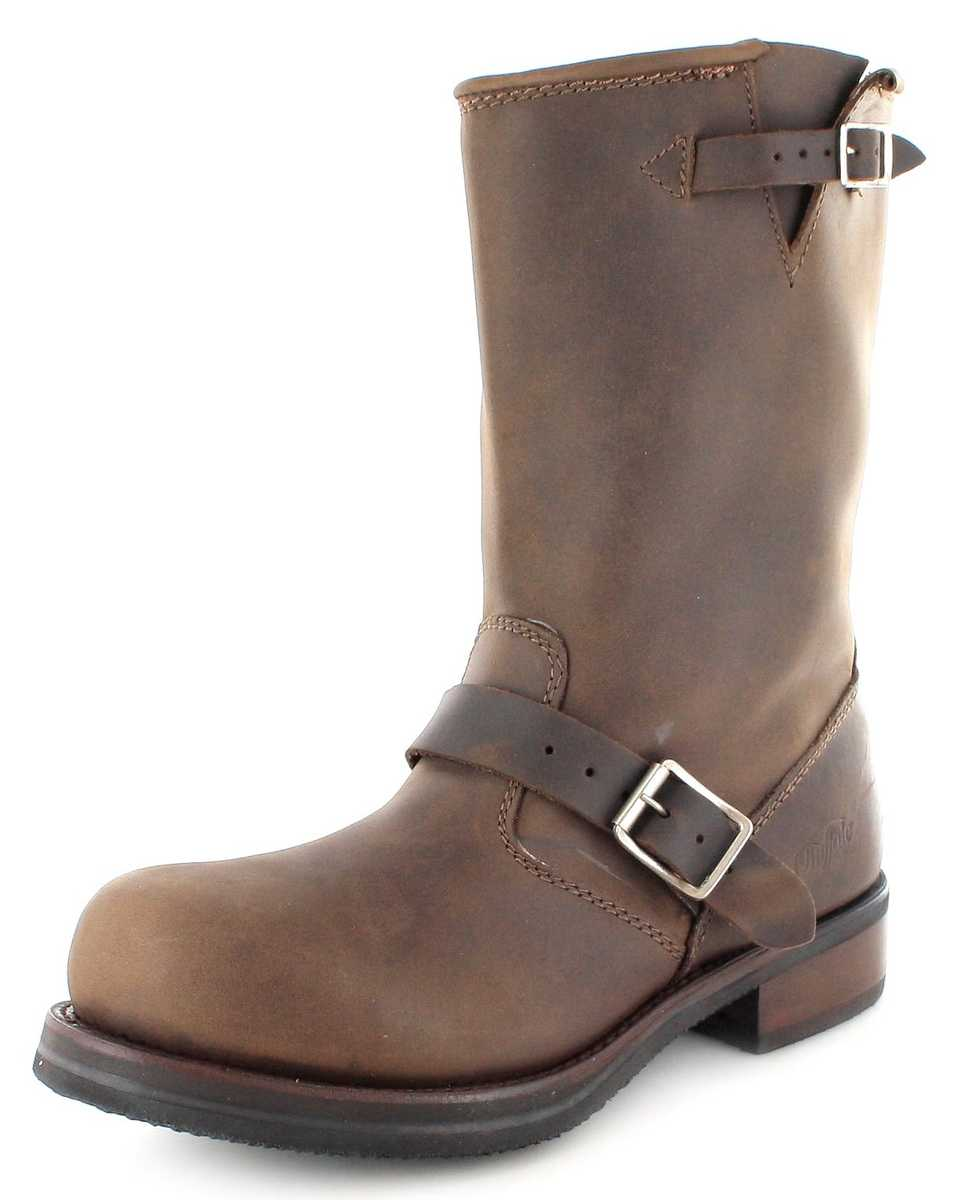 Buffalo Boots 1808B Engineer boot with steel toecap  - brown