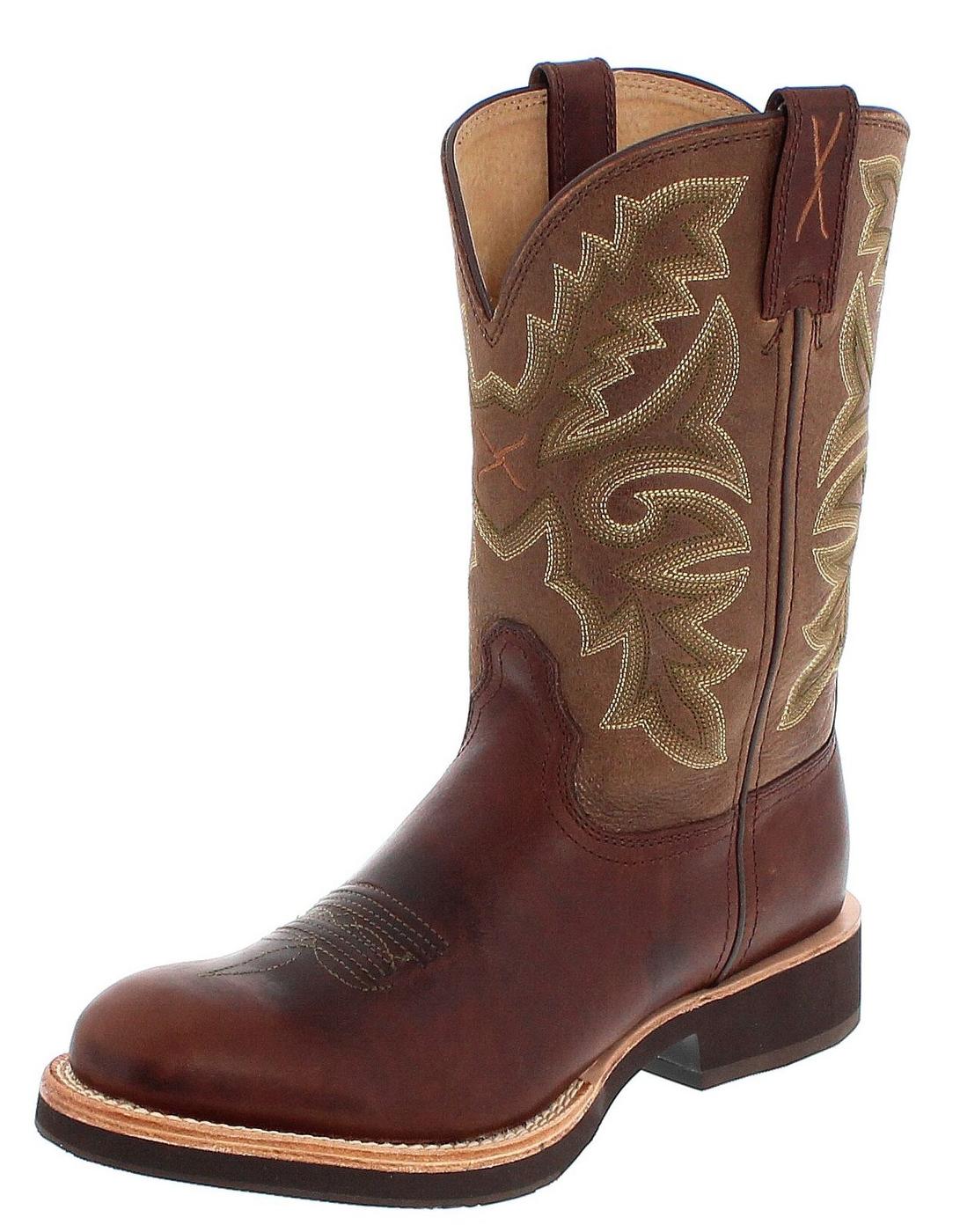 Twisted X Boots 1692 HORSEMAN Chocolate Brown Herren Westernreitstiefel - braun