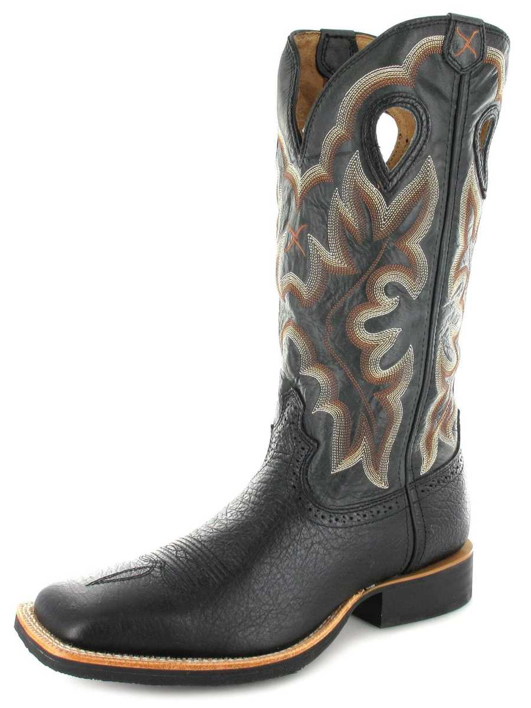 Twisted X Boots 1963 RUFF STOCK Black Herren Westernreitstiefel - schwarz