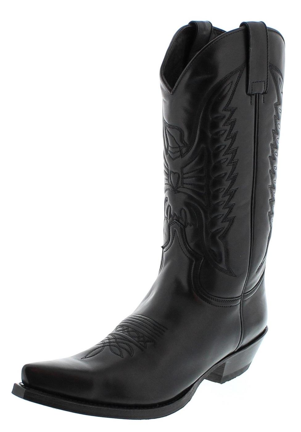 Sendra Boots 2073 Snowbut Negro westernlaars - Zwart