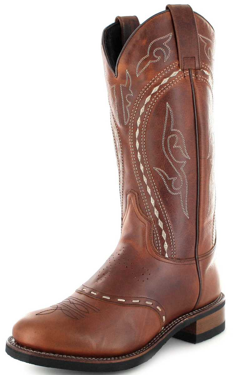 Sendra Boots 8325 Tang Western riding boot with Merino sheepskin lining- Brown