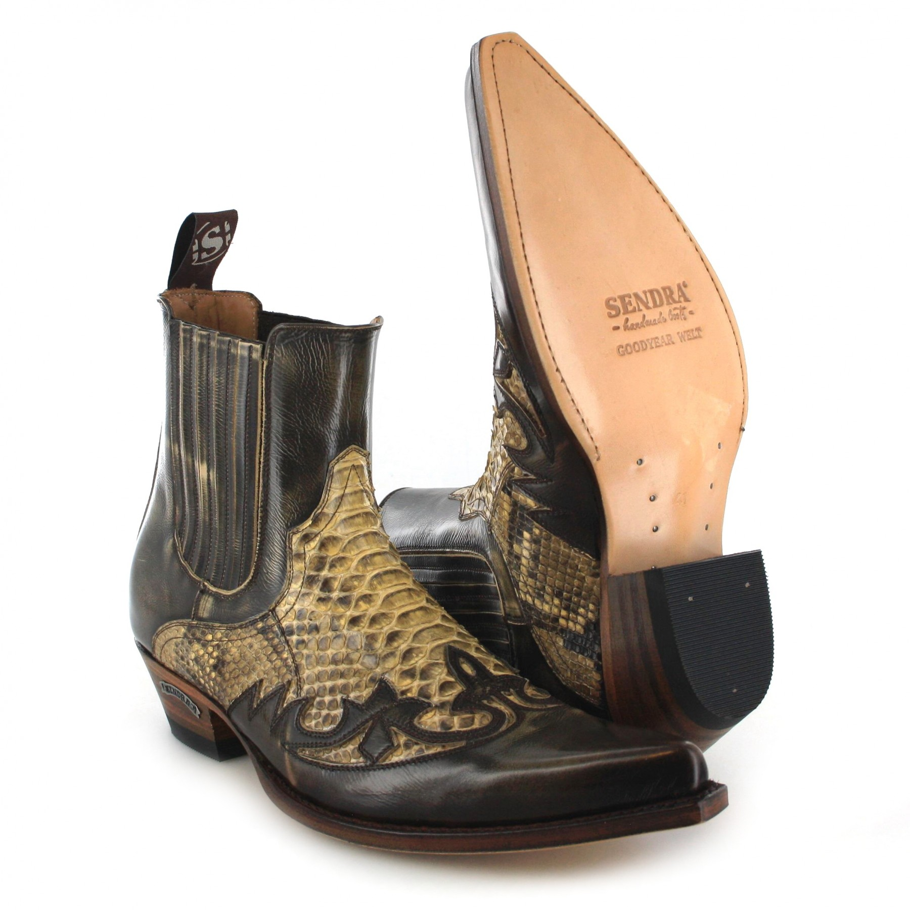 sendra boots 9396p denver 075 western ankle boot