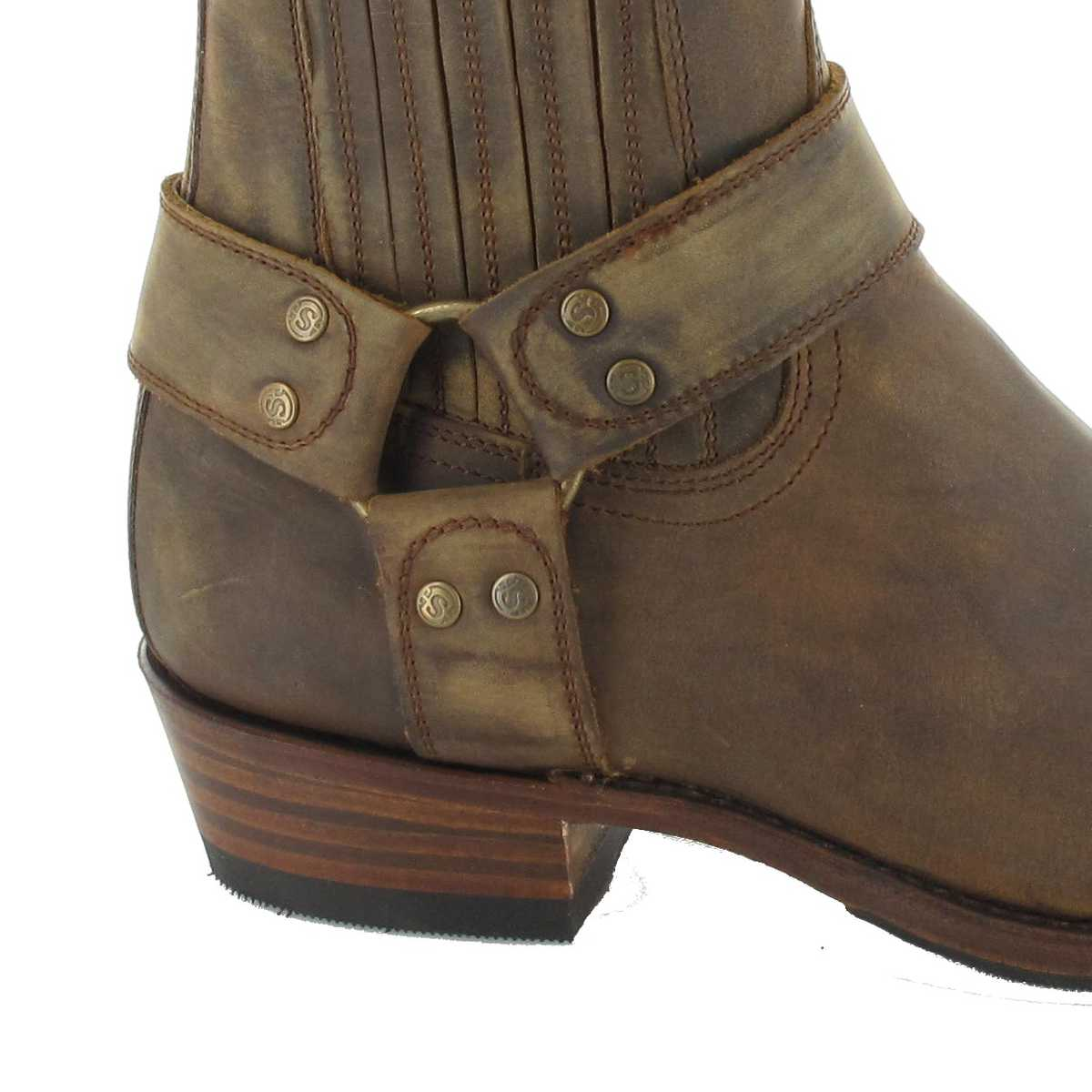 7a418ec7d44 Sendra Boots 8286 Tang biker ankle boot - Brown – Bild 4