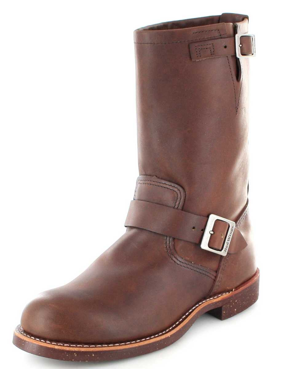 Red Wing Shoes ENGINEER 2991 Amber Engineer boot with no steel toecap - brown
