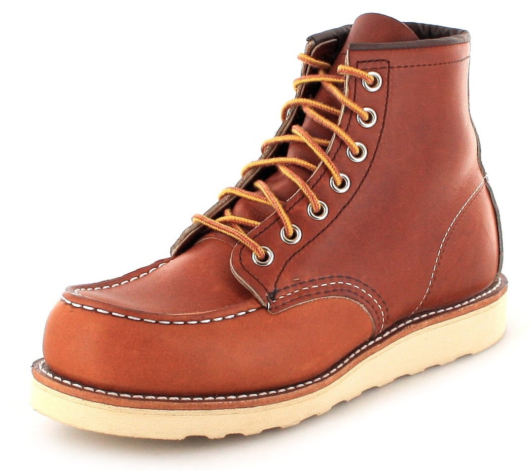 Red Wing Shoes MOC TOE 0875 Oro Legacy Work Boots - brown