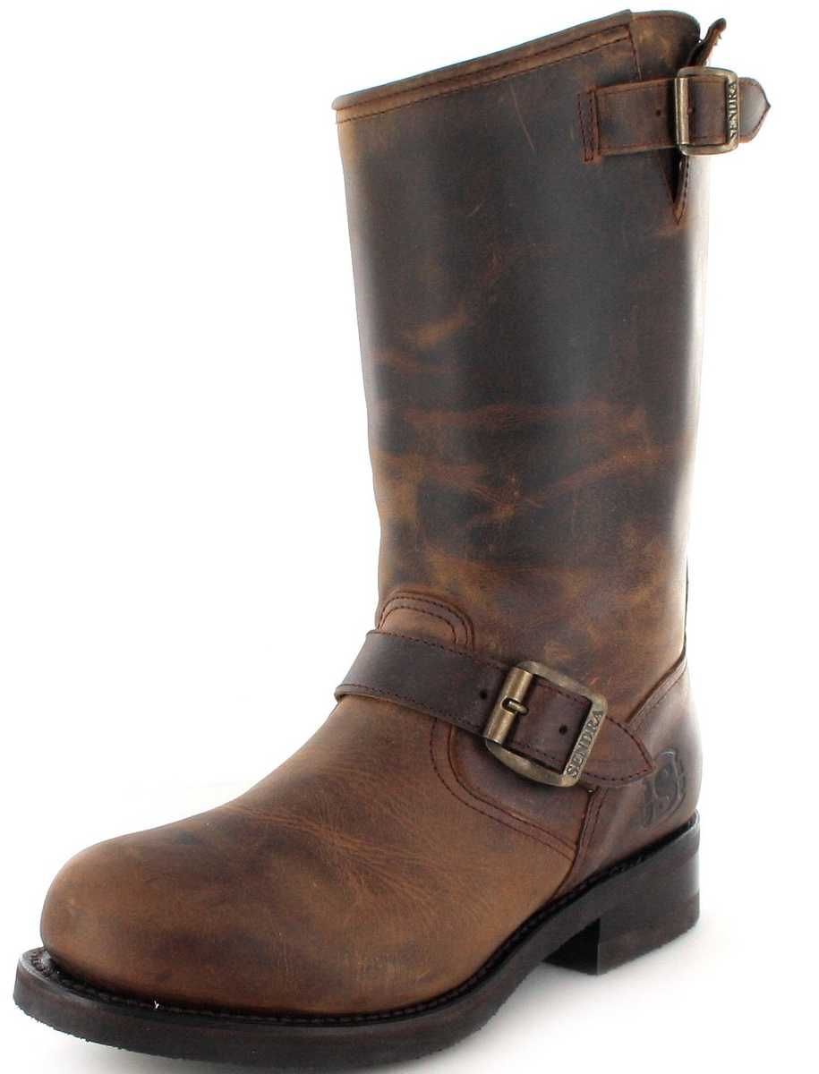 Sendra Boots 9852 Tango Engineer boot with steel toecap and Thinsulate Insulation insulation - Brown