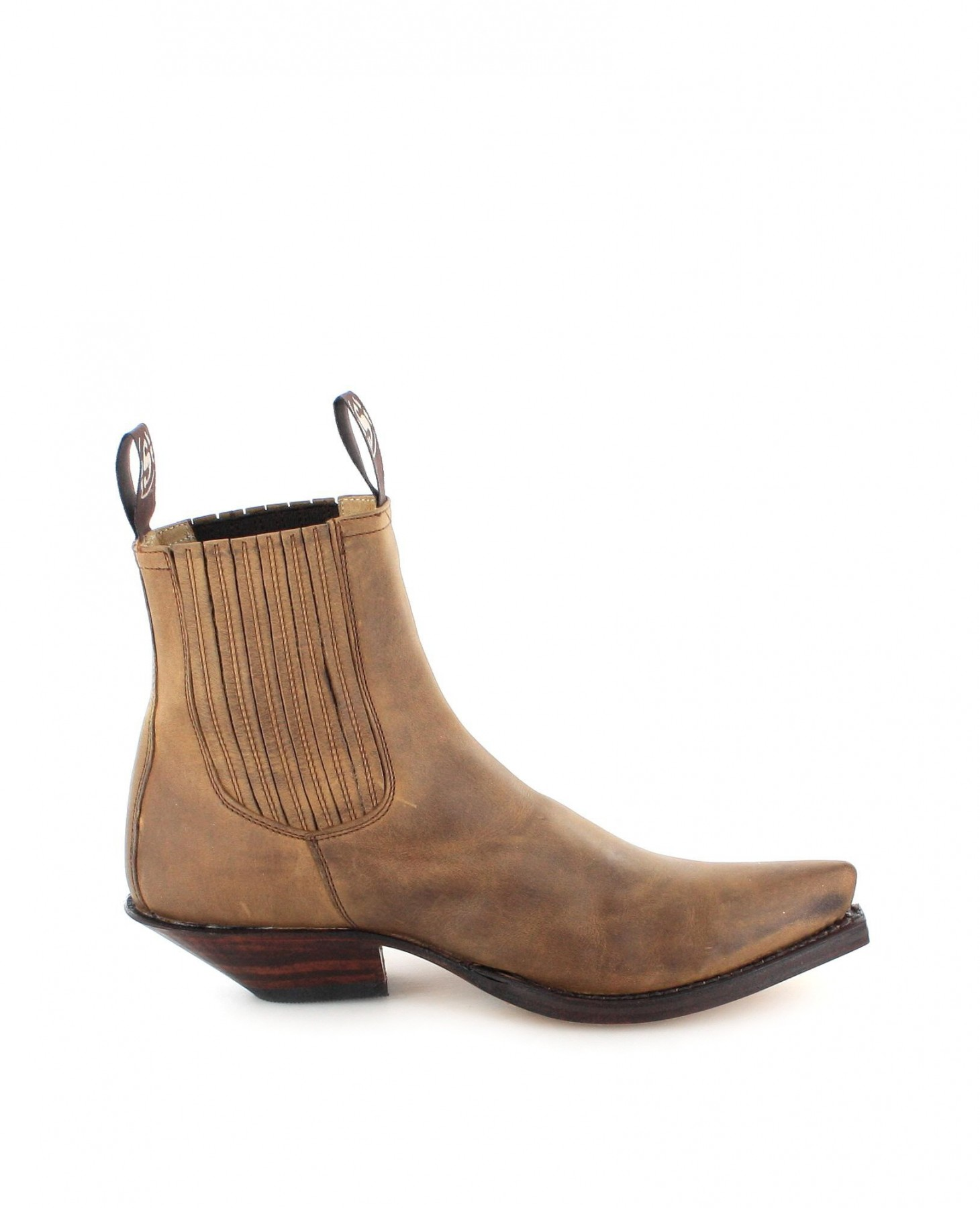 sendra boots 1692 tang western ankle boot brown