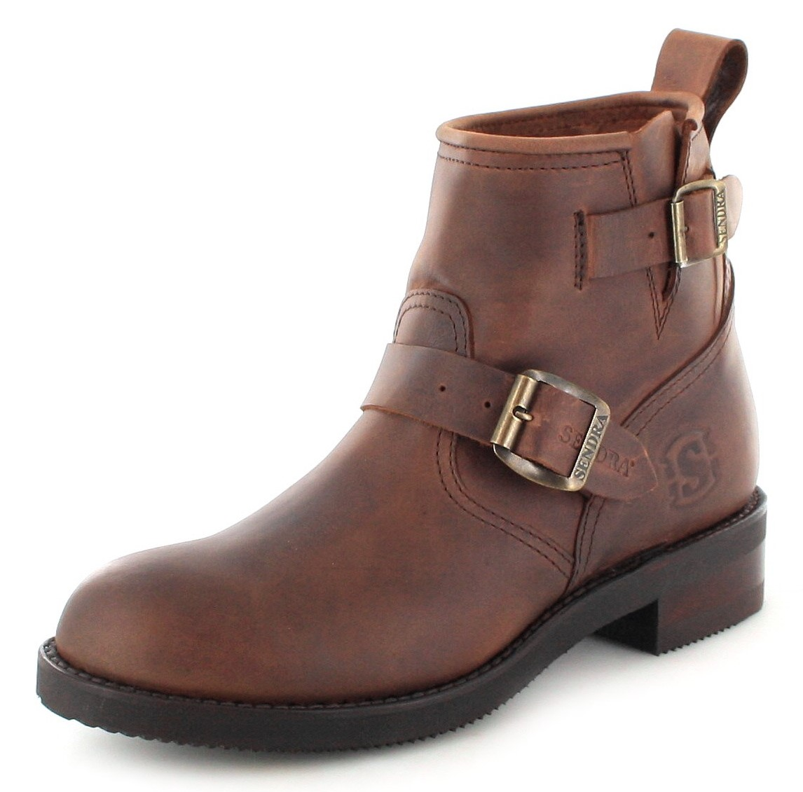Sendra Boots 2976 Sprinter Engineer ankle boot with no steel toecap- Brown