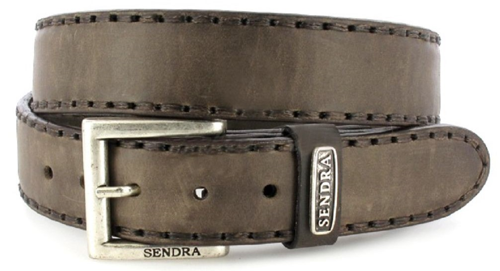 Sendra Boots 8563 Graphite leather belt - grey