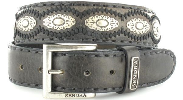 Sendra Boots 7606 Antracita leather belt - grey