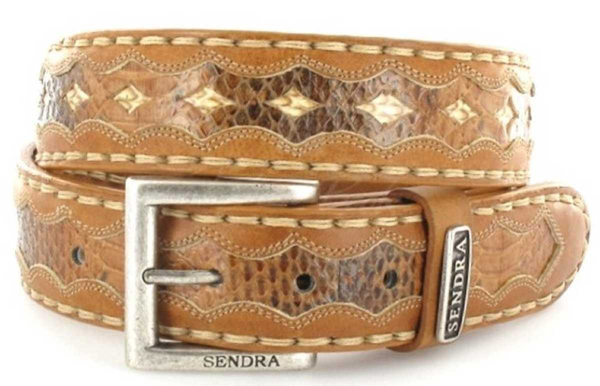 Sendra Boots 7576 Siena Ayers Exotic leather belt - brown