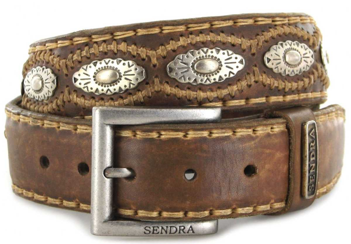 Sendra Boots 7606 Natural leather belt - brown