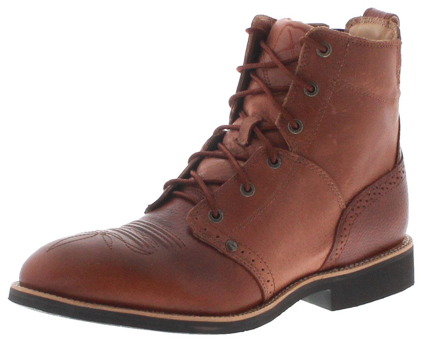 Twisted X Boots 1706 CALF ROPER LACER Cognac Herren Reitstiefelette - braun