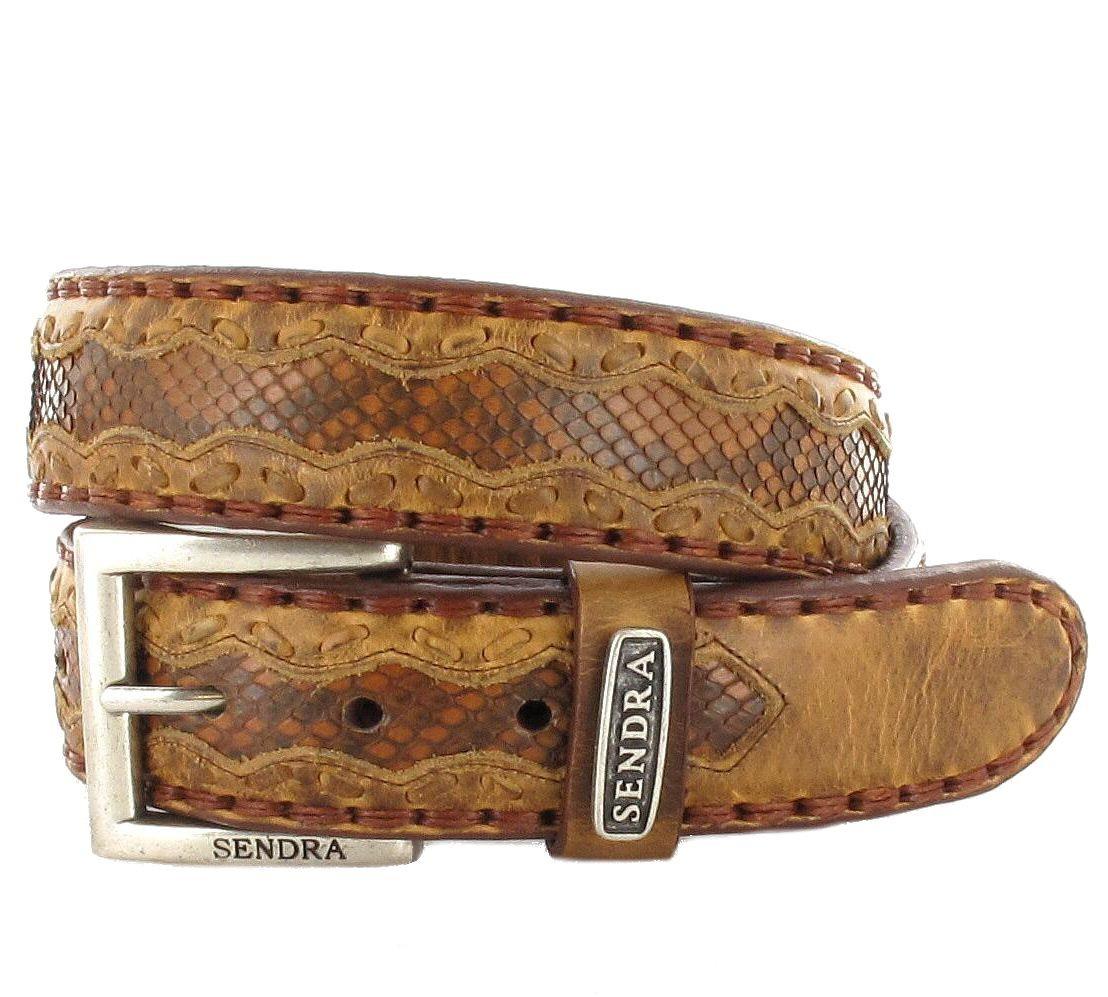Sendra Boots 8347 Canela Pyton Fantasia Exotic Ledergürtel - braun