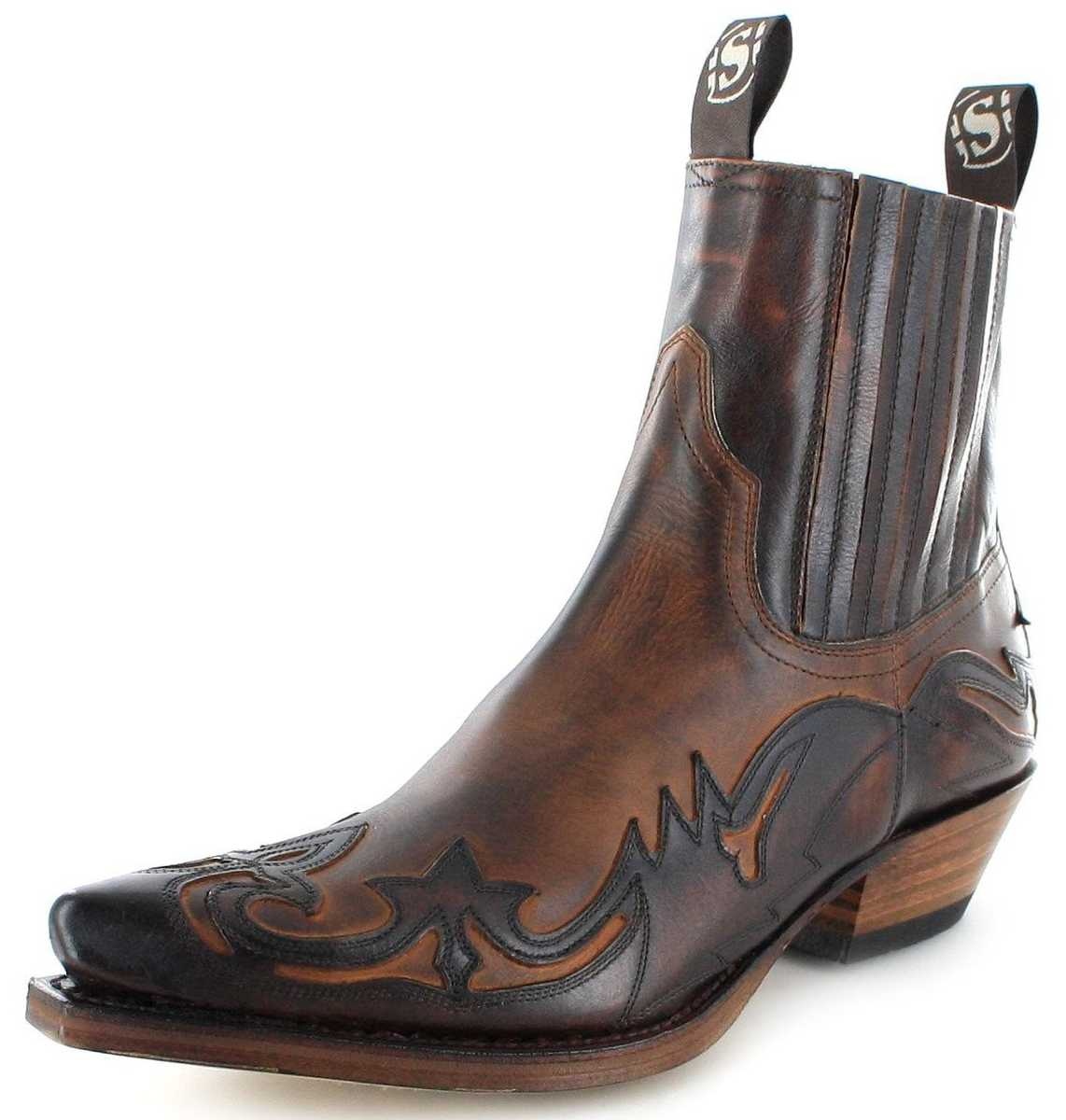 Sendra Boots 4660 Marron Western Ankle Boot - Brown