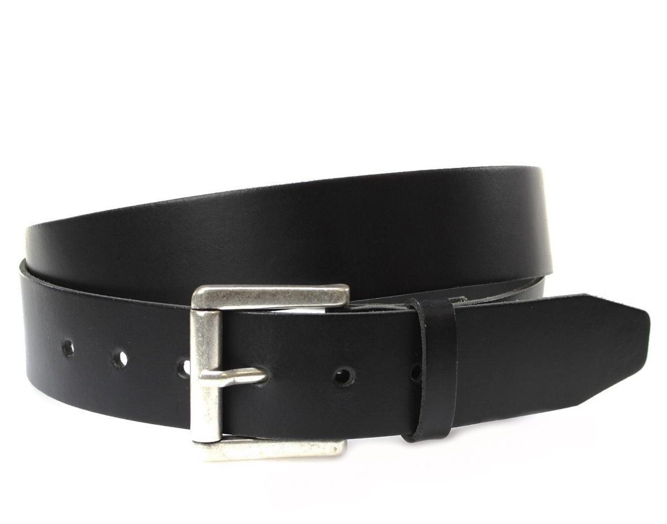 Vanzetti V4422-791 leather belt extra long - black