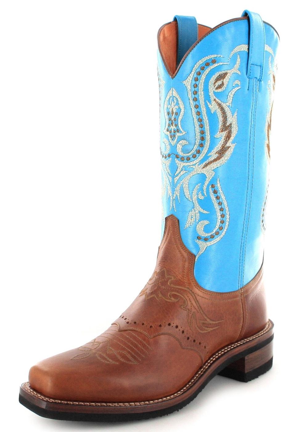 Sendra Boots 11594 Tang Westernreitstiefel - braun türkis