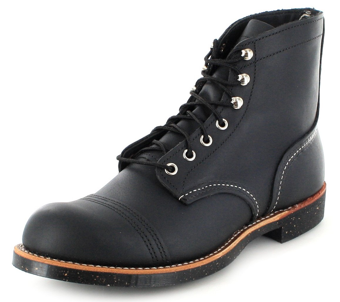 Red Wing Shoes 8114 IRON RANGER Black Herren Schnürstiefel - schwarz