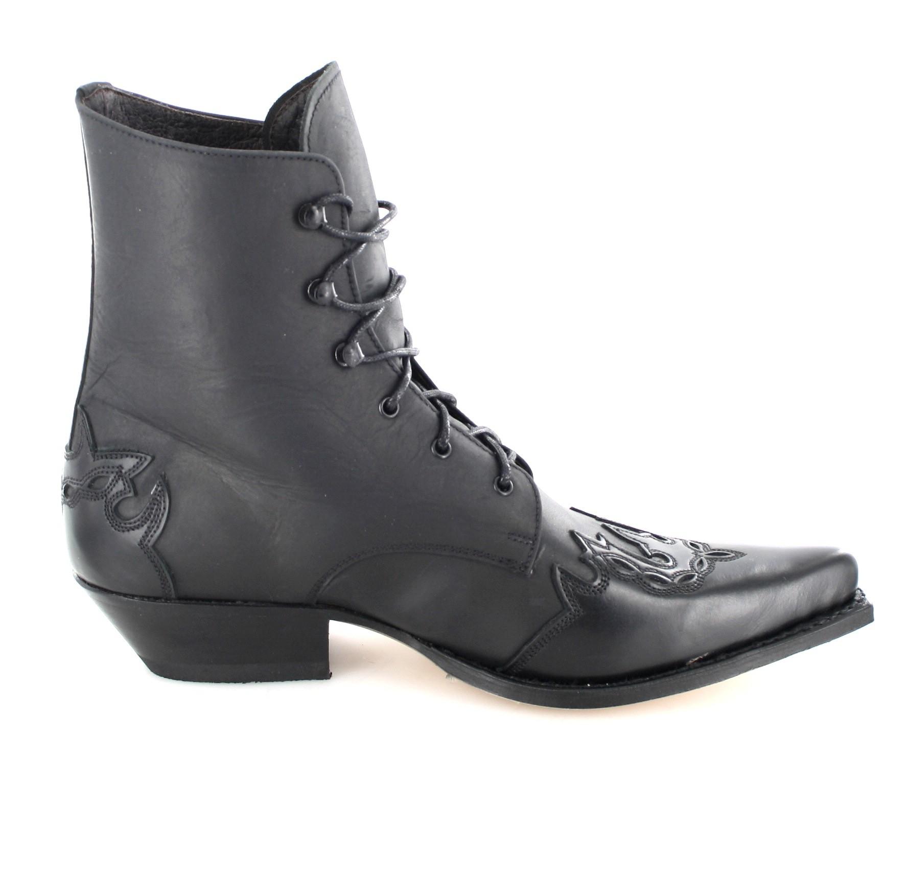 Sendra Boots 11699 Flora Sprinter Negro Schnürstiefelette für Damen Schwarz Damenstiefelette, Groesse:40