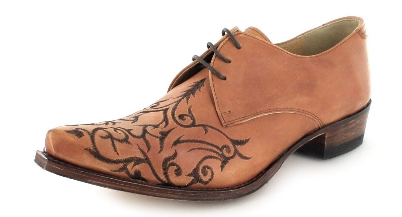 Sendra Boots 7650 Siena Western Schnürschuh - beige