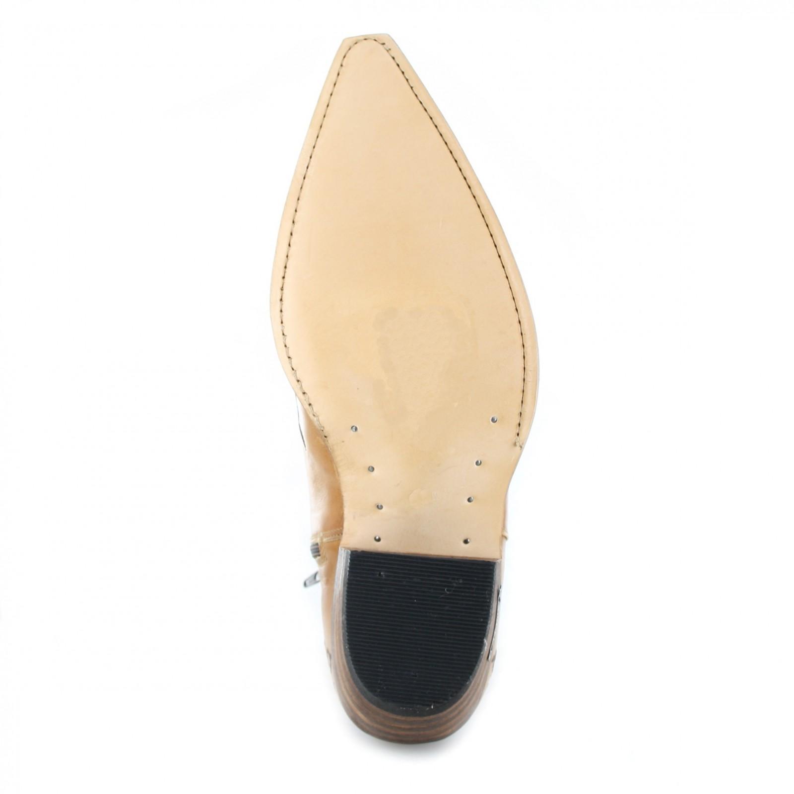 sendra boots 7216 siena western ankle boot beige