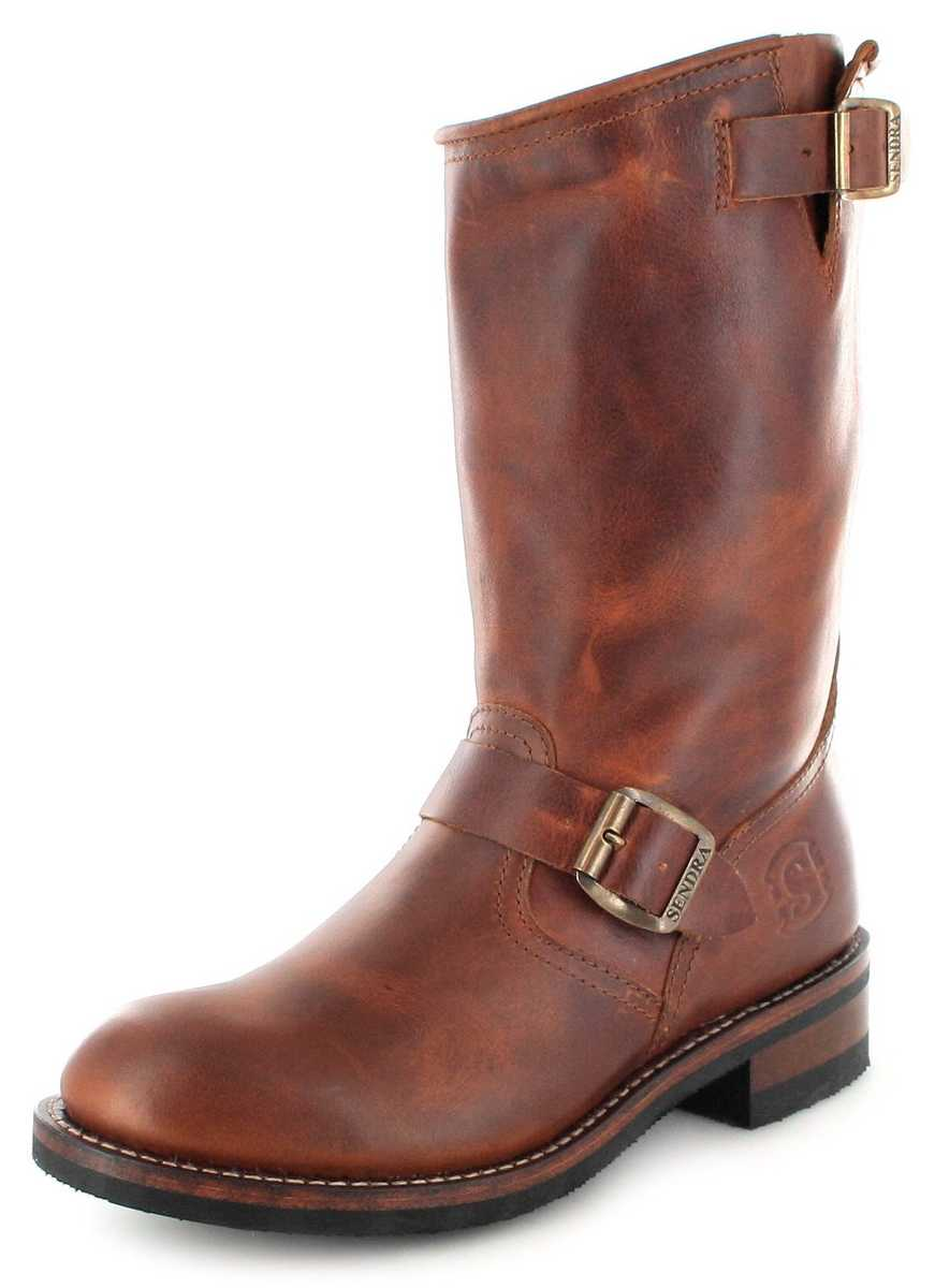 Sendra Boots 2944 Tang Engineer boot with no steel toecap- Brown