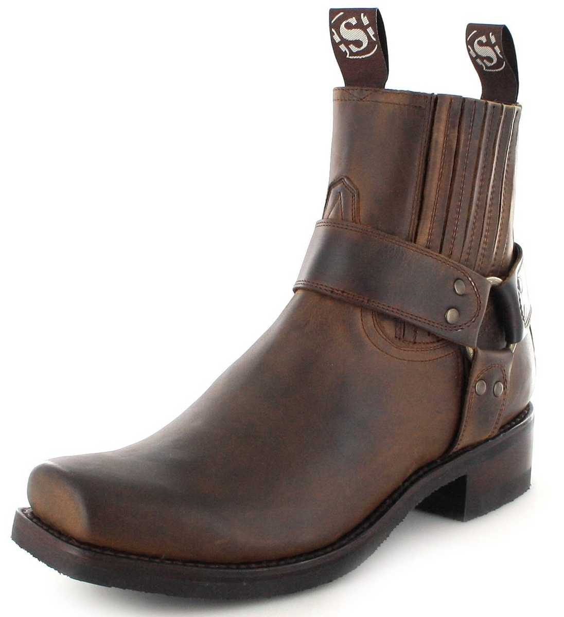 Sendra Boots 8286 Tang biker ankle boot with rubber sole- brown