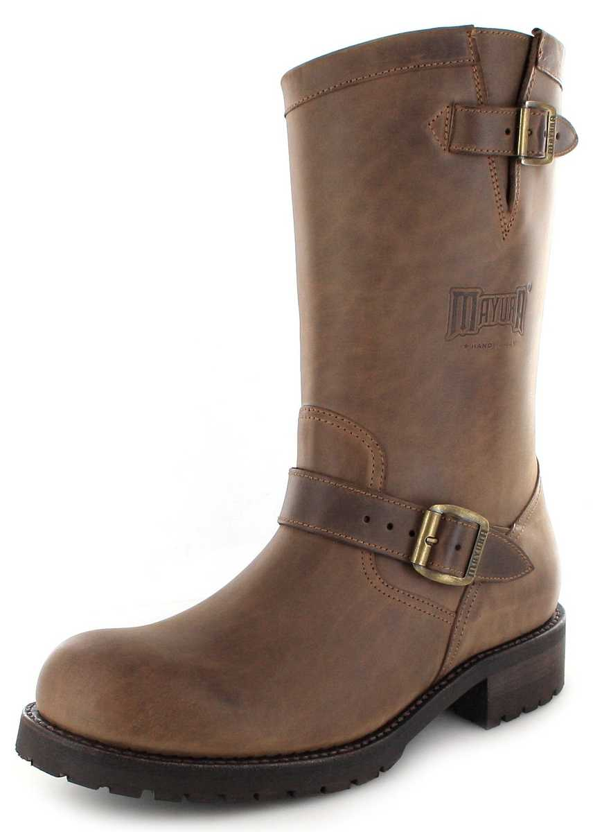 Mayura Boots MB018 Sadale Engineer boot with no steel toecap- brown