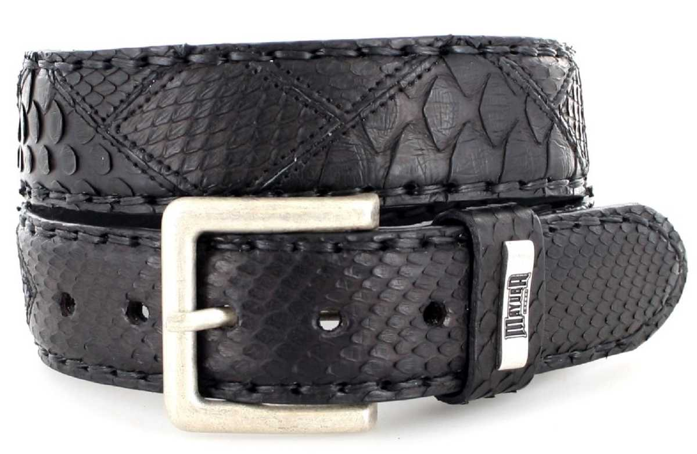 Mayura Boots MB1020 Negro Exotic  leather belt - black