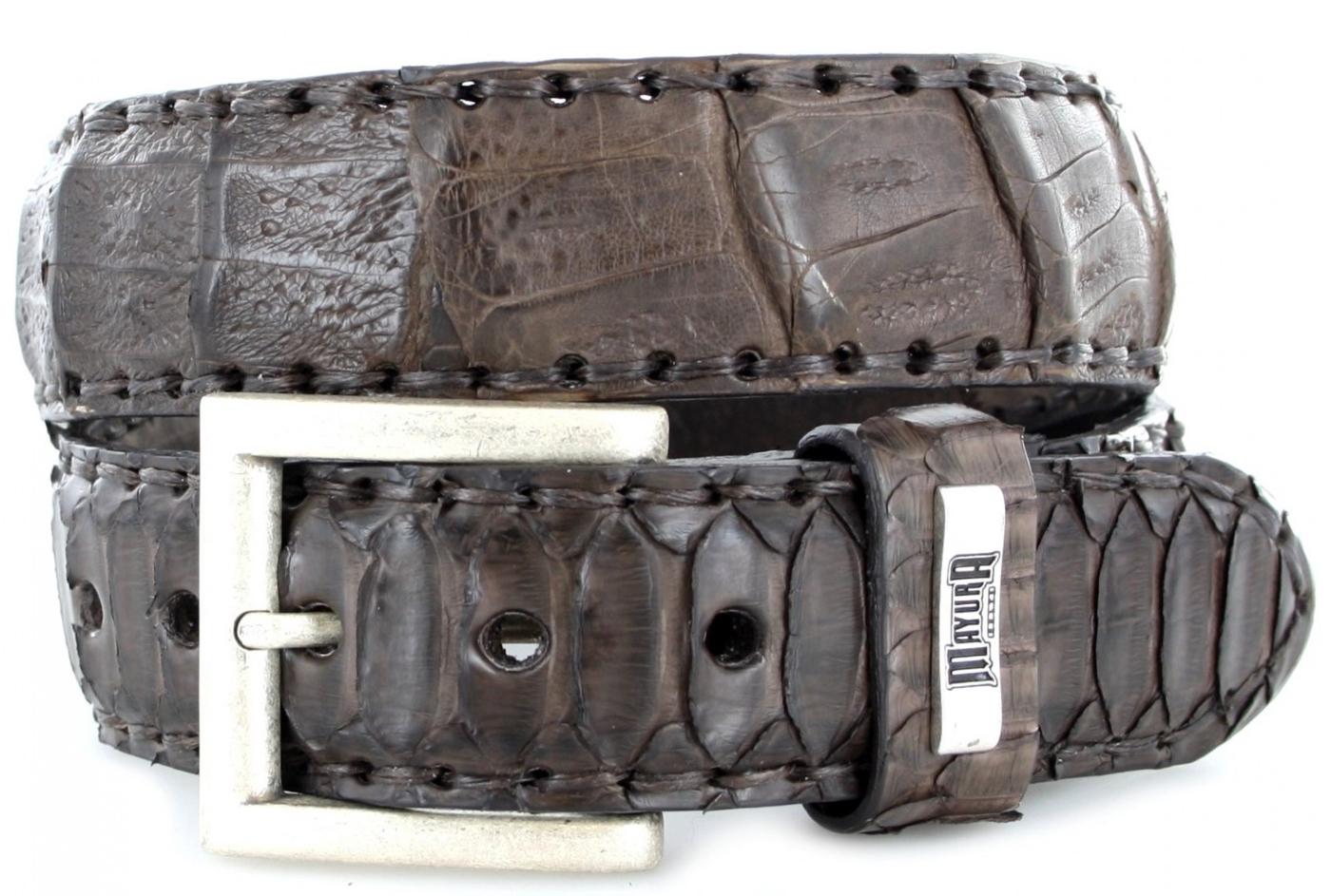 Mayura Boots MB211 Castana Exotic  leather belt - dark brown