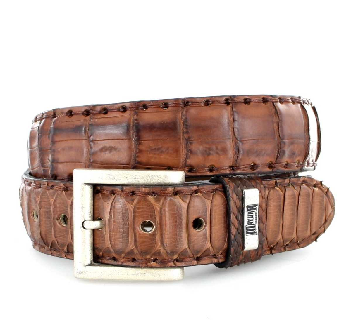 Mayura Boots MB211 Camel Exotic  leather belt - brown