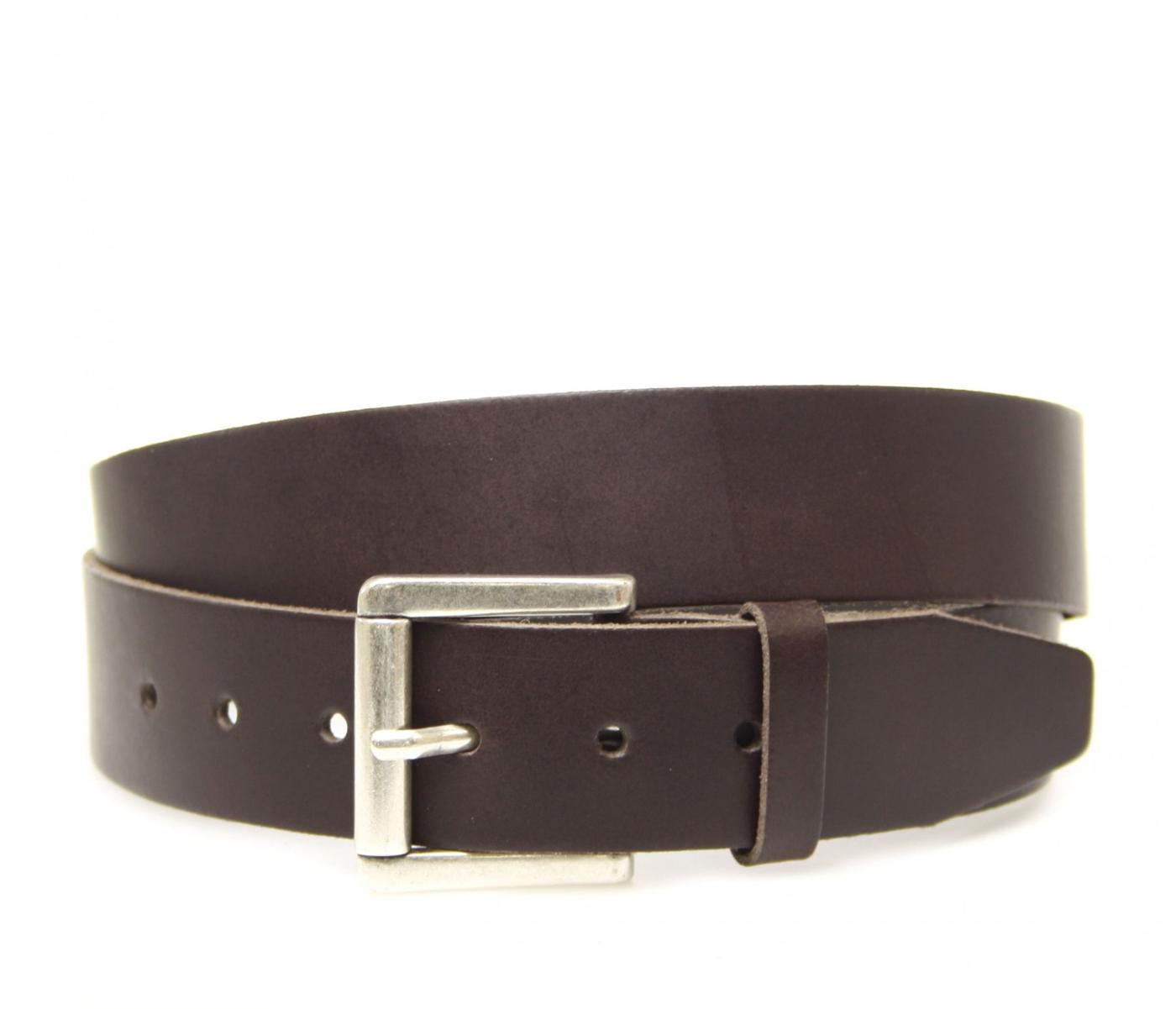 Vanzetti V4422-691 leather belt extra long - dark brown
