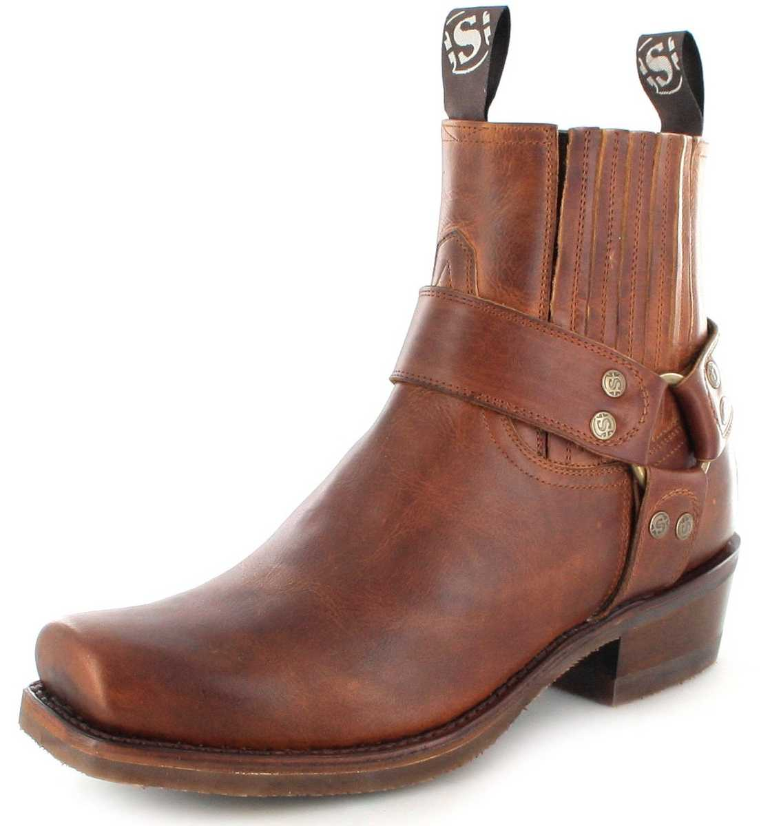 Sendra Boots 8286 Evo Tang biker ankle boot with rubber sole - brown