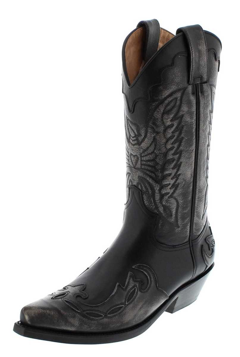 Mayura Boots 1927 Bone Negro Western boot - black grey