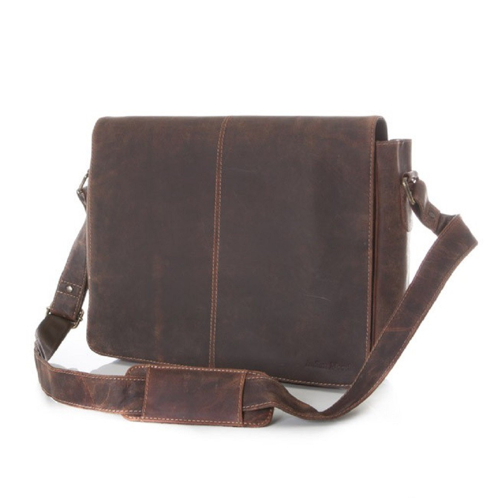 Indian Mood 849 Brown Messenger Bag Ledertasche - braun