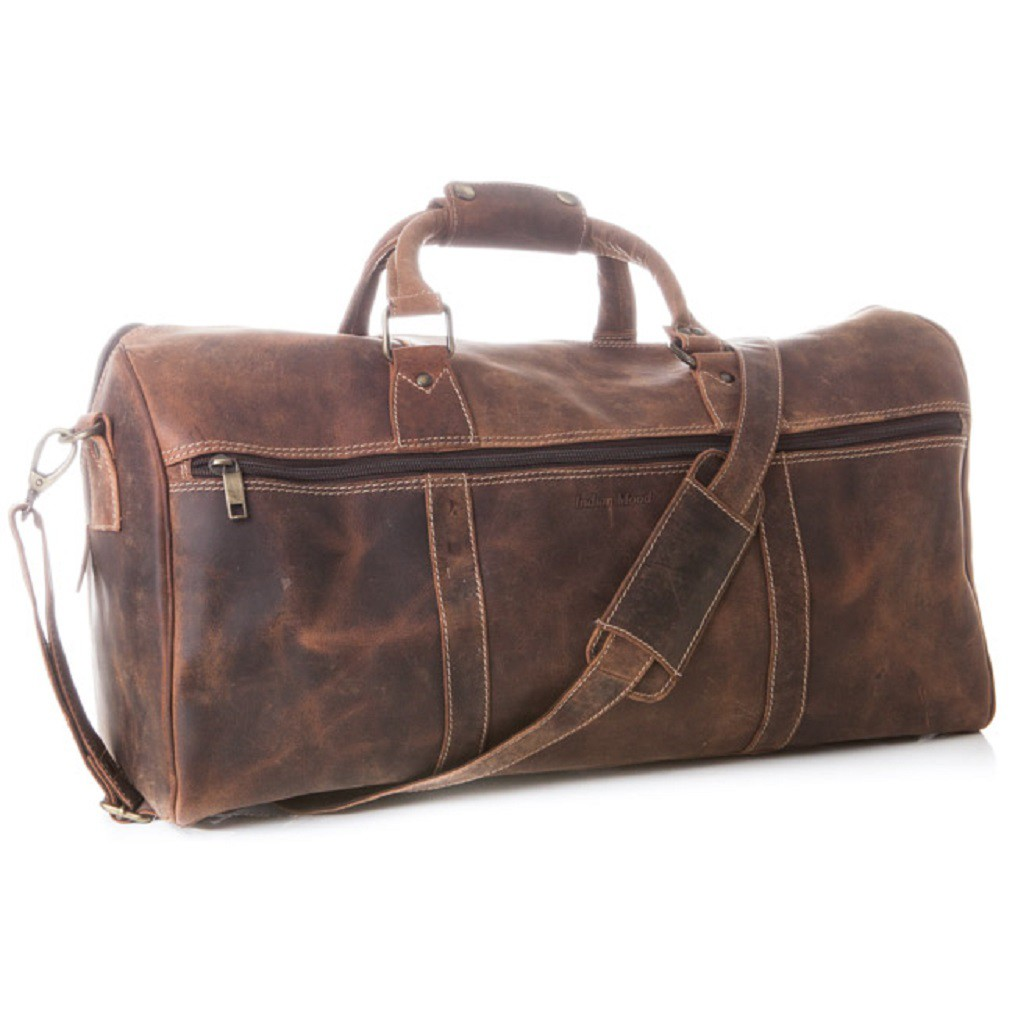 Indian Mood 826 Travelers Bag Braun Ledertasche