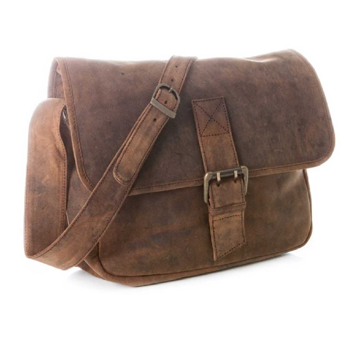 Indian Mood 8130 Leather Bag Tan Brown leather bag