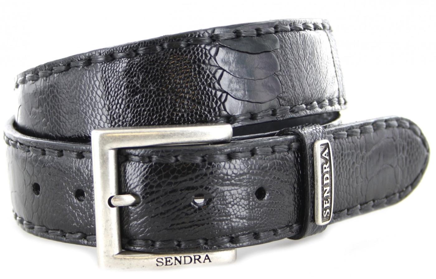 Sendra Boots 1016 Negro Exotic Ledergürtel - schwarz