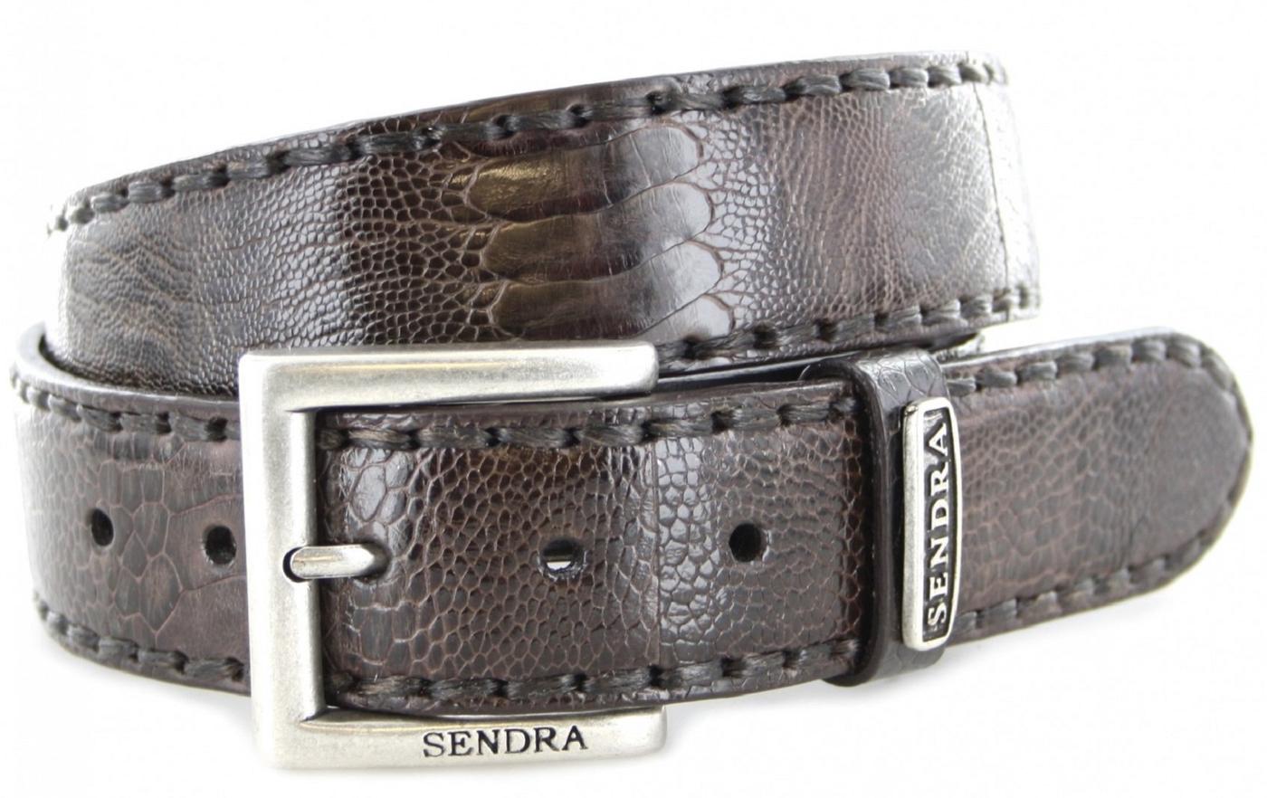 Sendra Boots 1016 Niger Exotic  leather belt - dark brown
