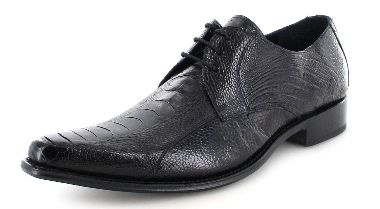 Sendra Boots 7965A Avestruz Negro Exotic low shoe - black