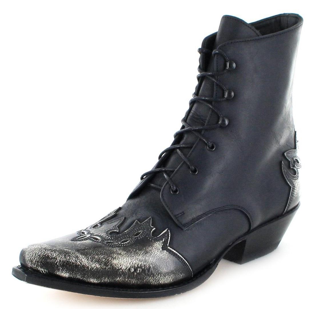 Sendra Boots 11699 Blanco Negro western kuitlaars - zwart wit