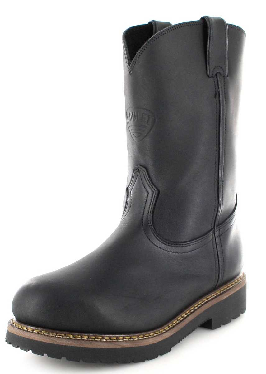 Boulet 4384 Black Western riding boots with steel toecap