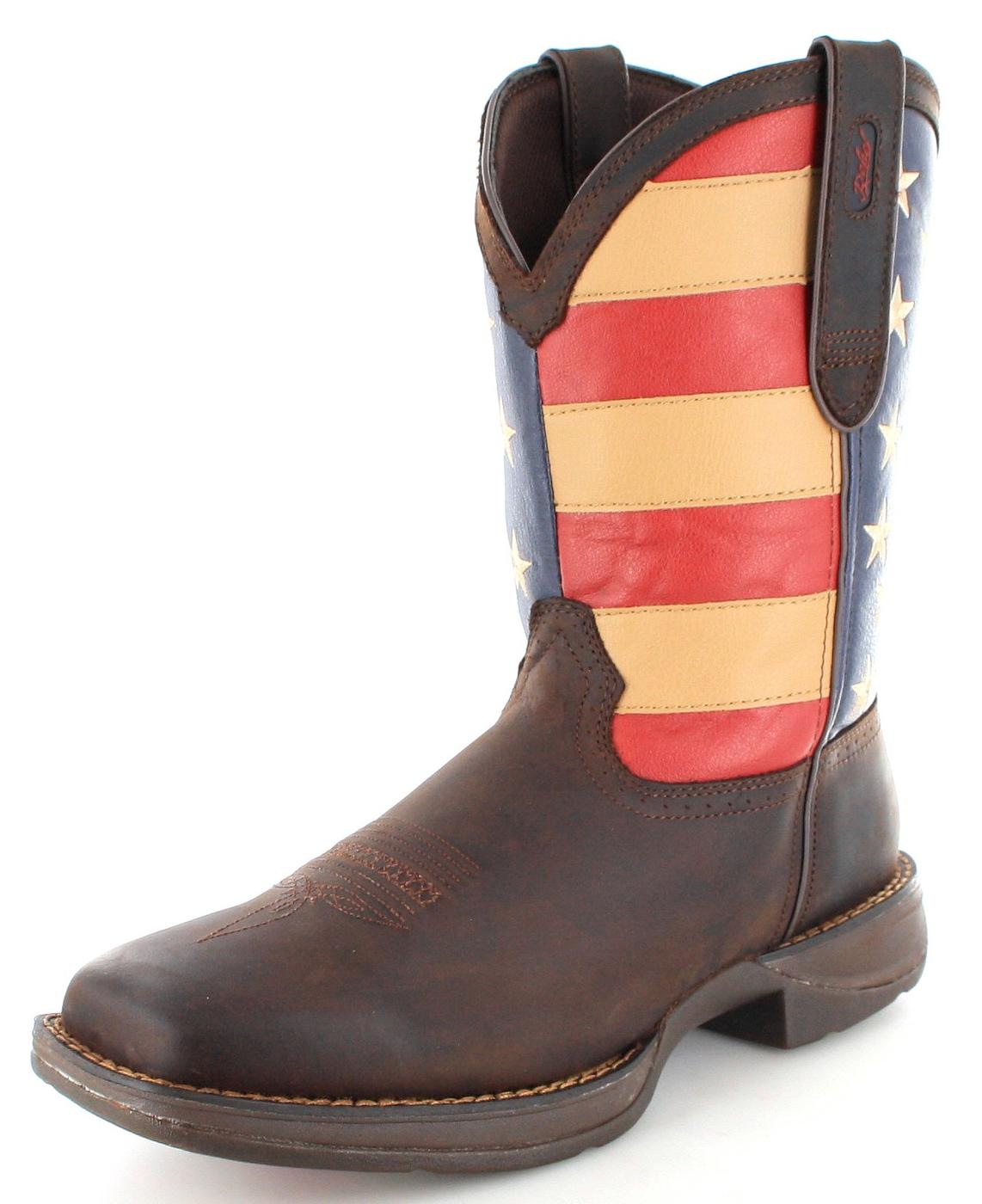 Durango Boots PULL-ON DB5554 EE Union Flag Westernreitstiefel - braun