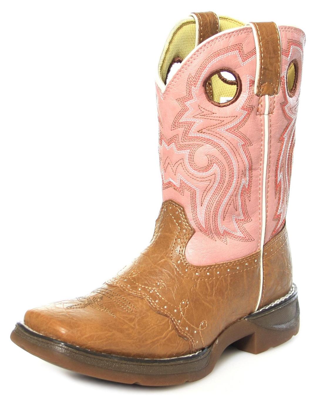 Durango Boots BT287/387 SADDLE Kinder Westernreitstiefel - braun rosa