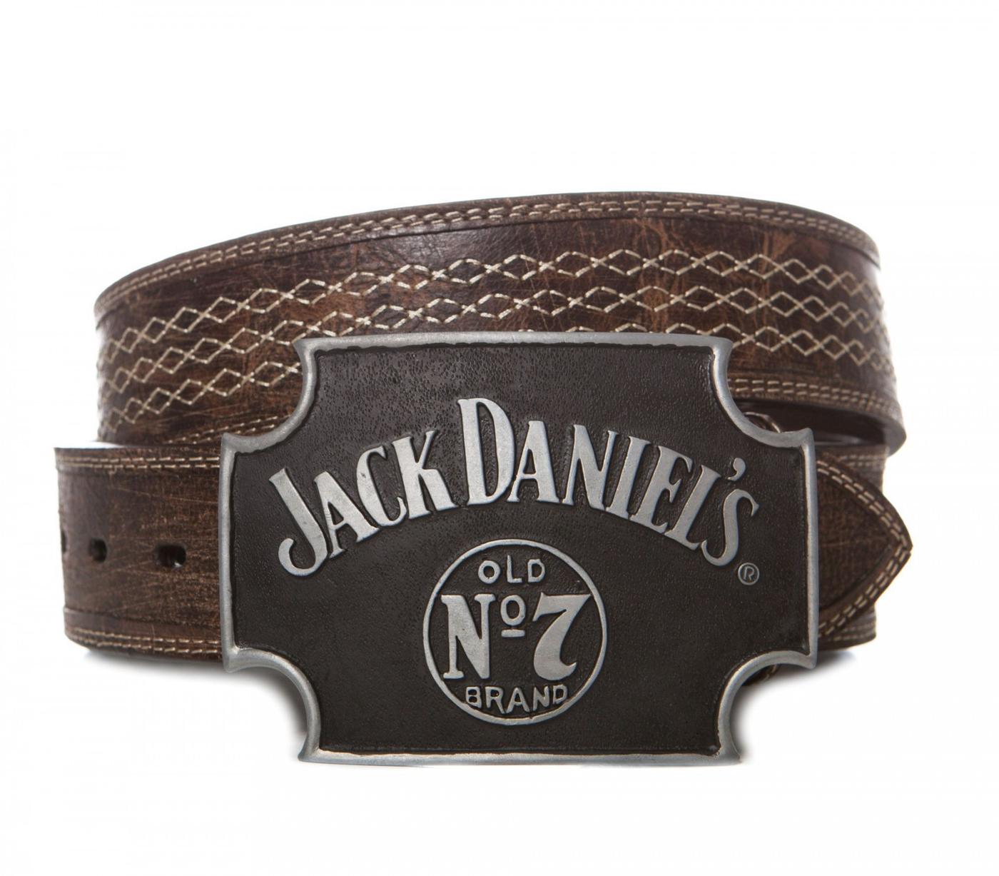 Jack Daniels 5015JD Grau Schwarz Cross Buckle Gürtelschnalle
