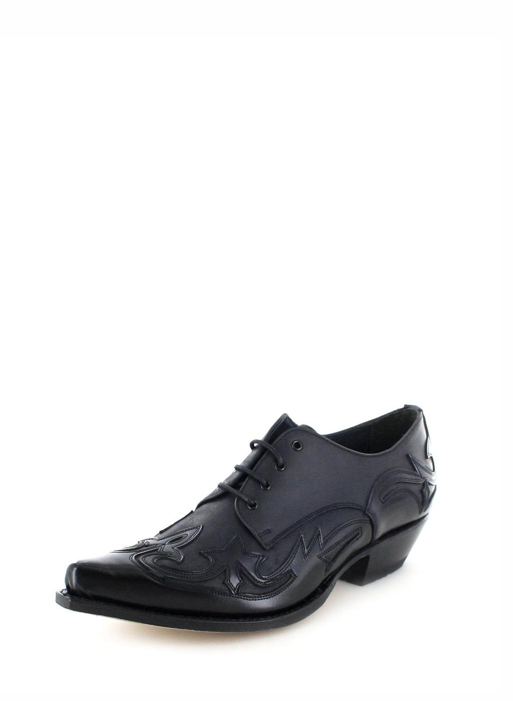 Sendra Boots 10066 Negro Western Schnürschuh - schwarz