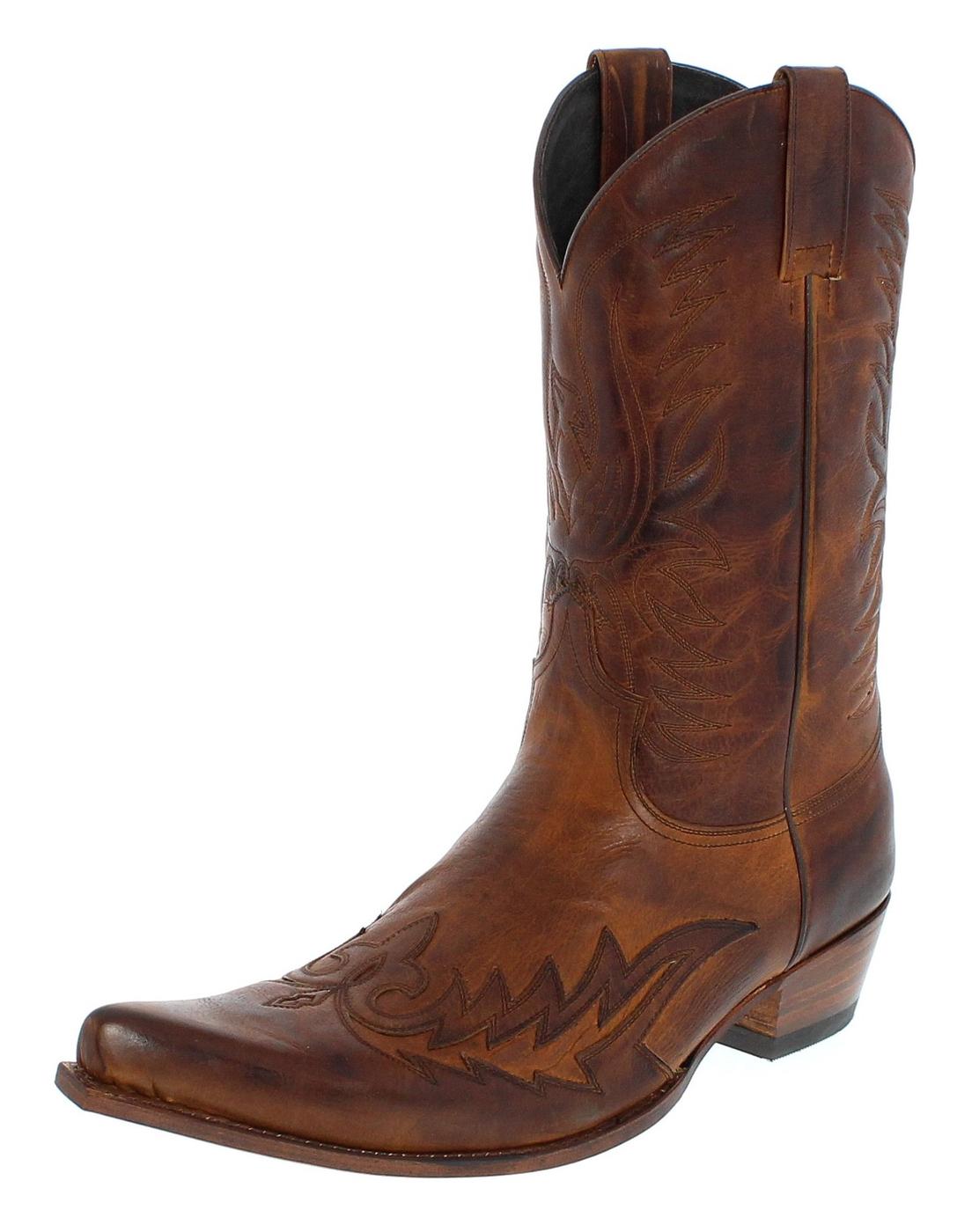 Sendra Boots 12994 Teak Cowboystiefel - braun
