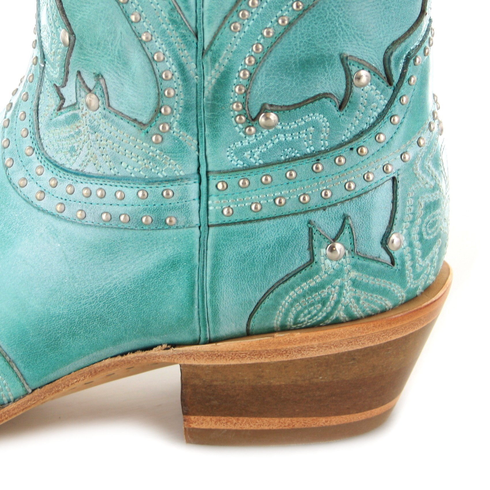 lucchese sarabeth m4977 western ankle boot turquoise