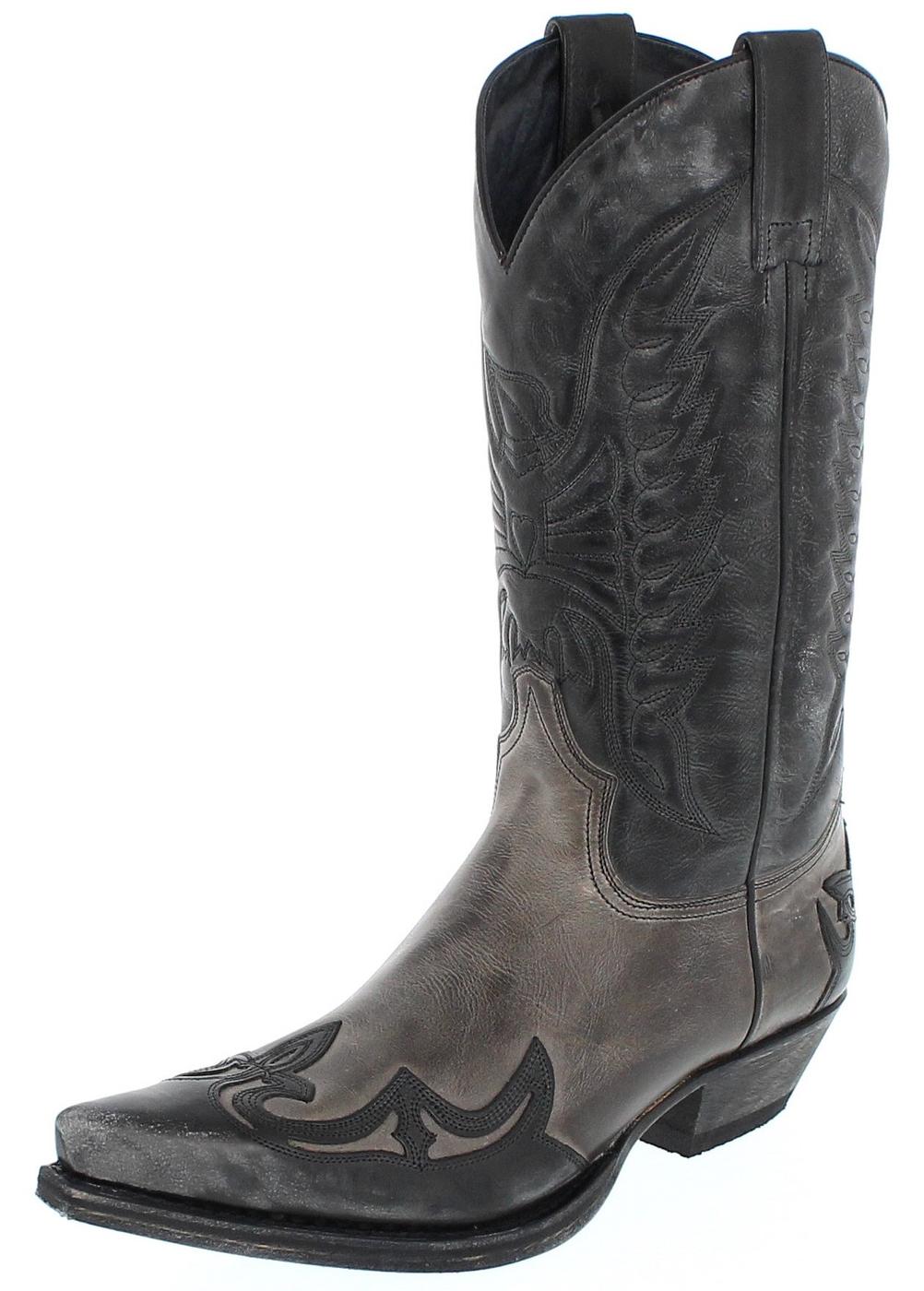Sendra Boots 13170 Negro Grigio Western boot  - black grey