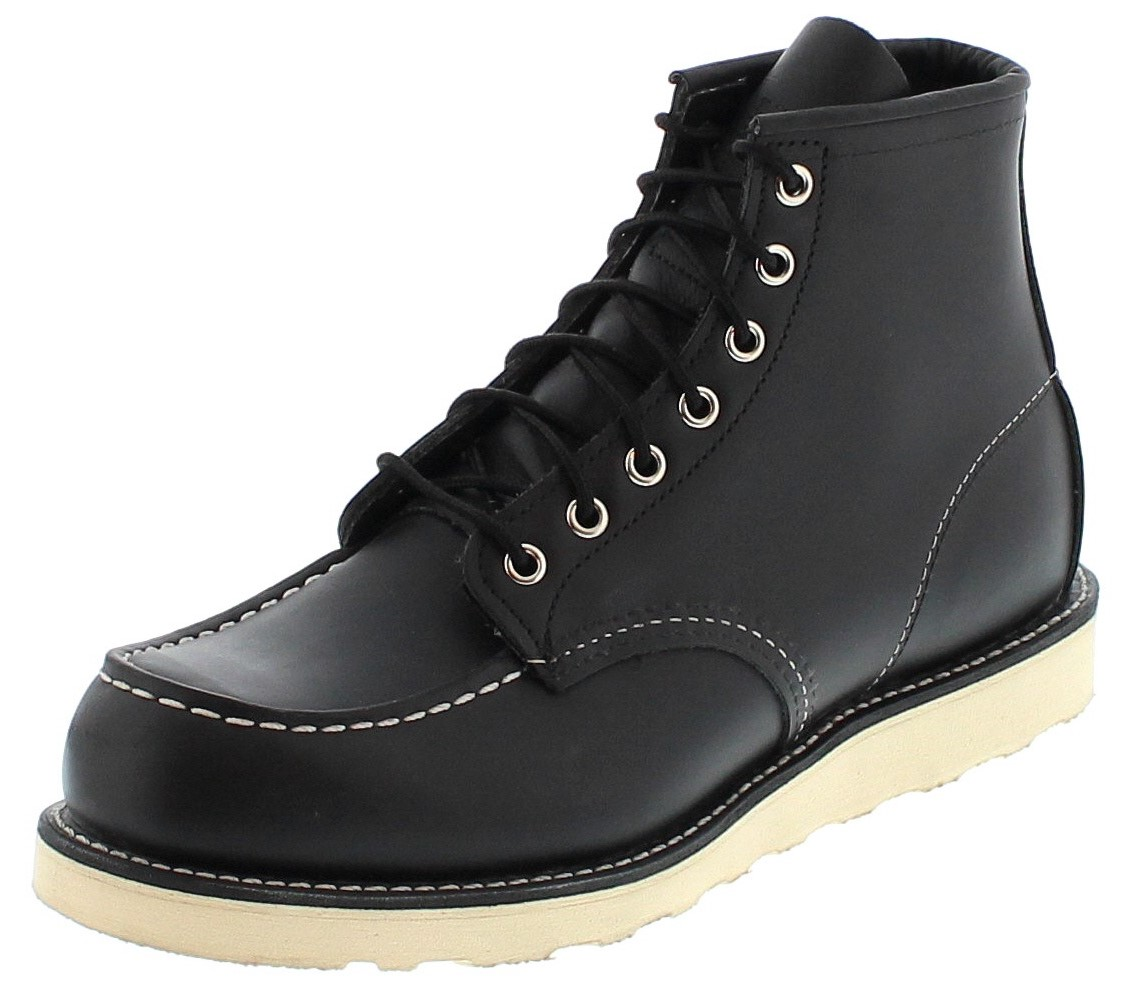Red Wing Shoes MOC TOE 8130 Black laced boot - black